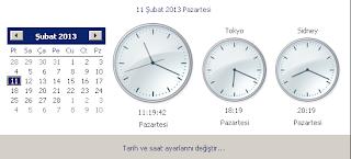 Windows ta birden çok saat eklemek (Tokyo,NewYork) için (Resimli anlatım)?