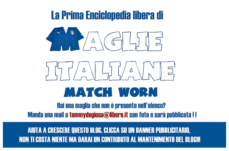 """La prima raccolta fotografica di maglie """"match worn"""" di squadre italiane"""