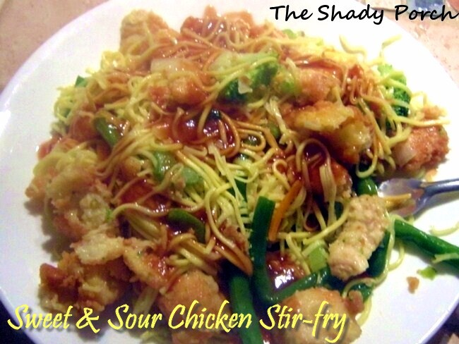 Sweet & Sour Chicken Stir-fry by The Shady Porch