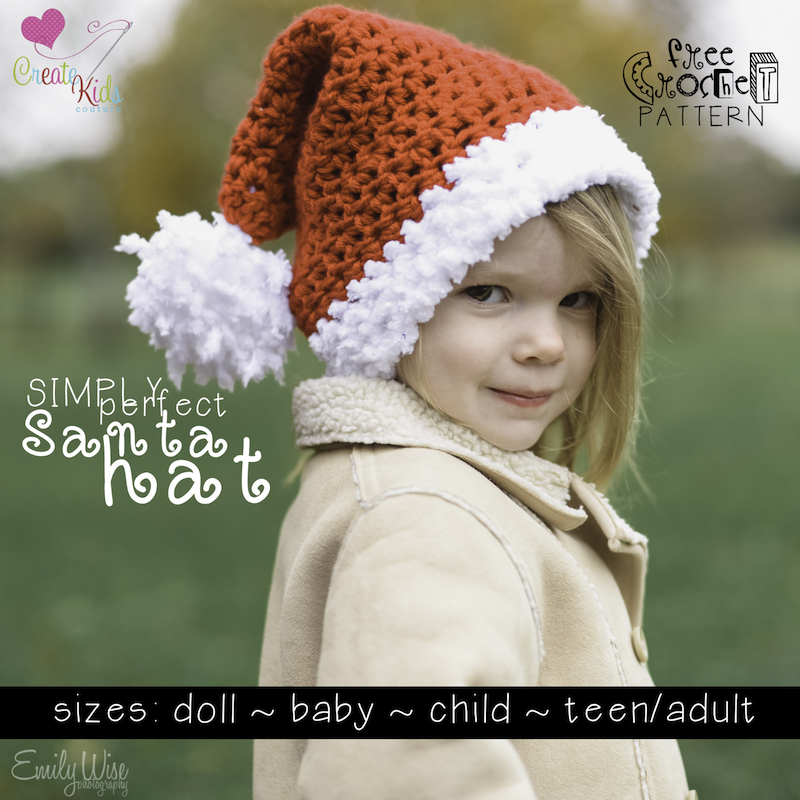 Create Kids Couture Simply Perfect Crochet Santa Hat