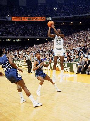 Tiro ganador Jordan final NCAA 1982