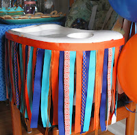 high chair ribbon banner for kid's birthday party