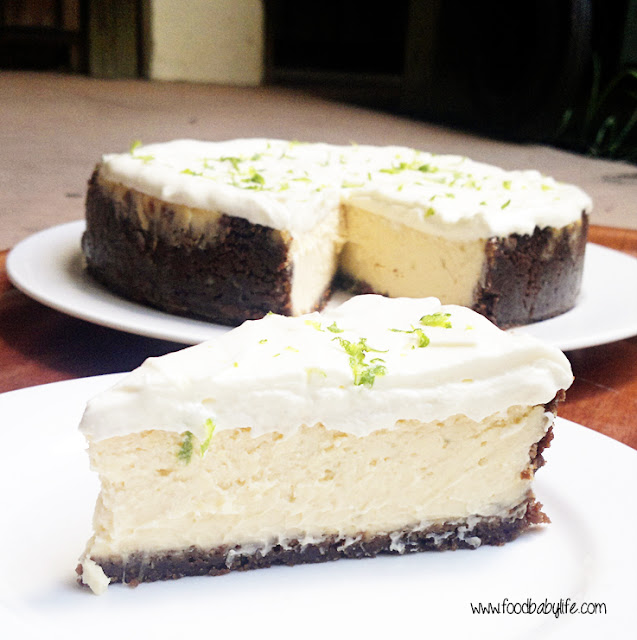 Lime Cheesecake with Gingernut Crust © www.foodbabylife.com