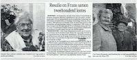 Twee kranige eeuwelingen Rosalia Rens en Frans Biesemans (1896-2003)