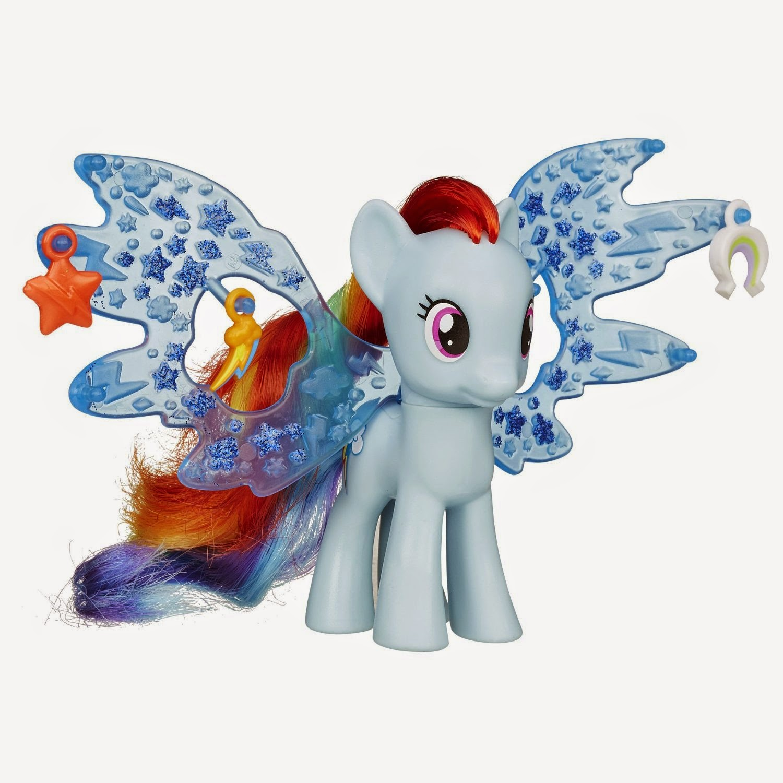 Rainbow Dash Cutie Mark Magic Charm Wings Brushable