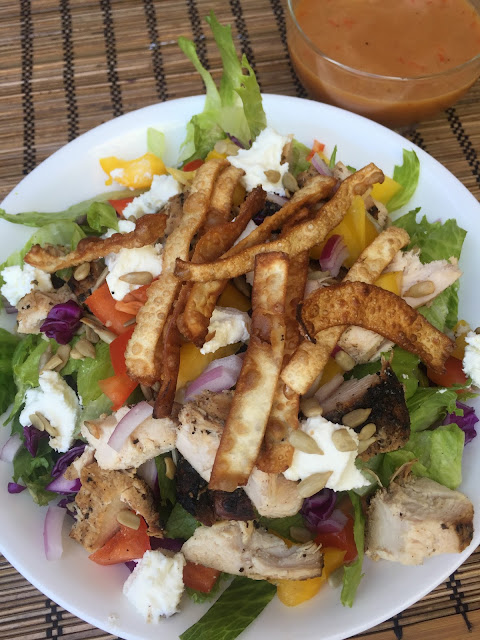 Recipe:  Salad, Recipe:  Chicken, main dish salads, Recipe:  Main Dish, Recipe:  Asian, Deals to Meals, Sweet Asian Red Pepper Salad Dressing, red pepper jelly