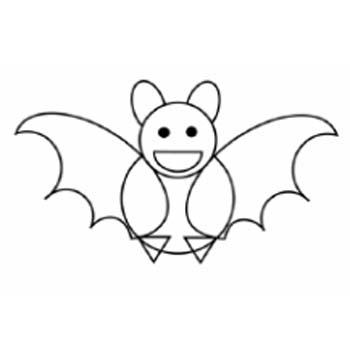 Menggambar kelelawar lucu