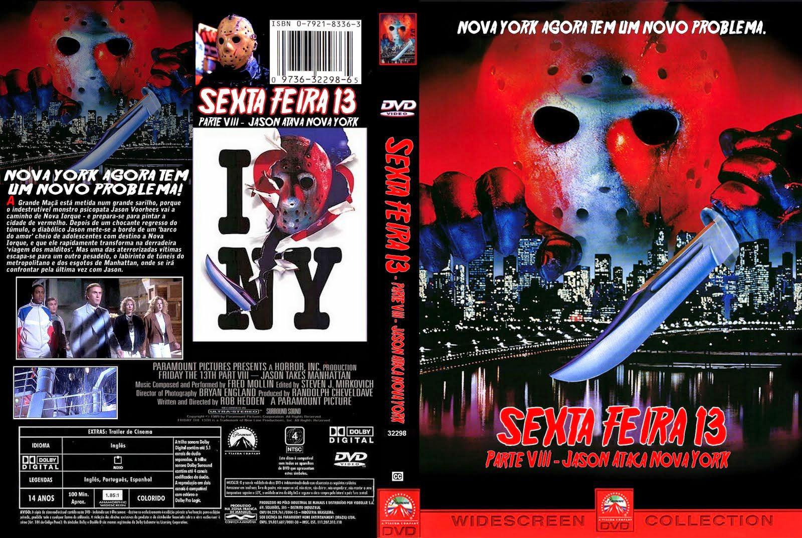 Sexta-Feira 13 Parte 8 - Jason Ataca Nova York DVD Capa
