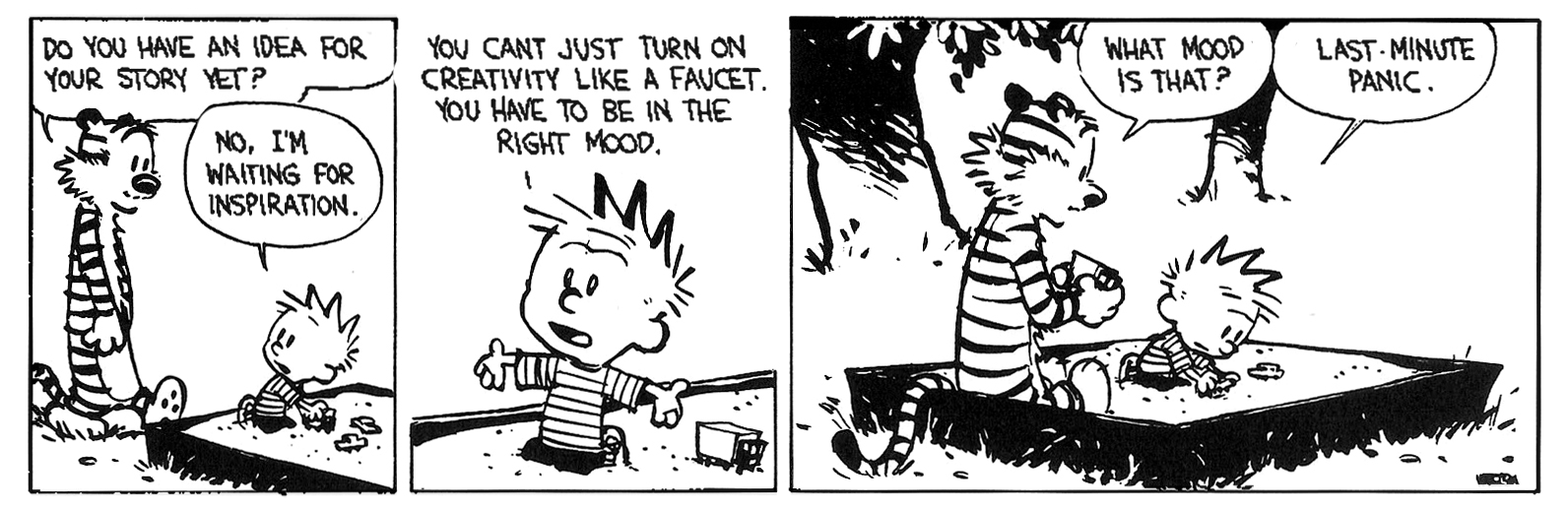 the battle to create on a deadline calvinandhobbes