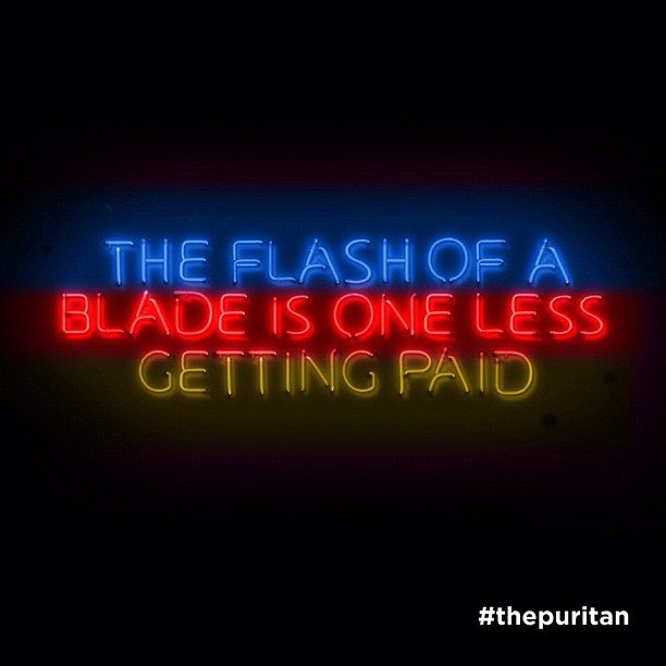 blurpuritan, blur the puritan, the puritan, damon albarn puritan, flash of the blade is one less getting paid
