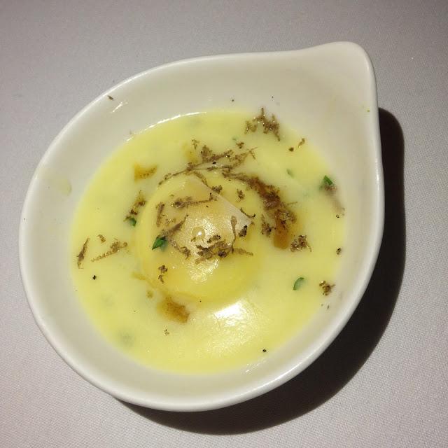 Quail Egg Raviolo