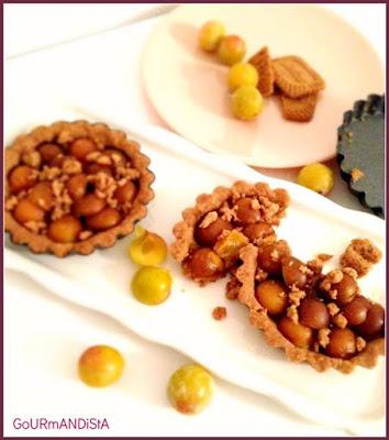 image-Tartelettes crumble spéculoos aux mirabelles