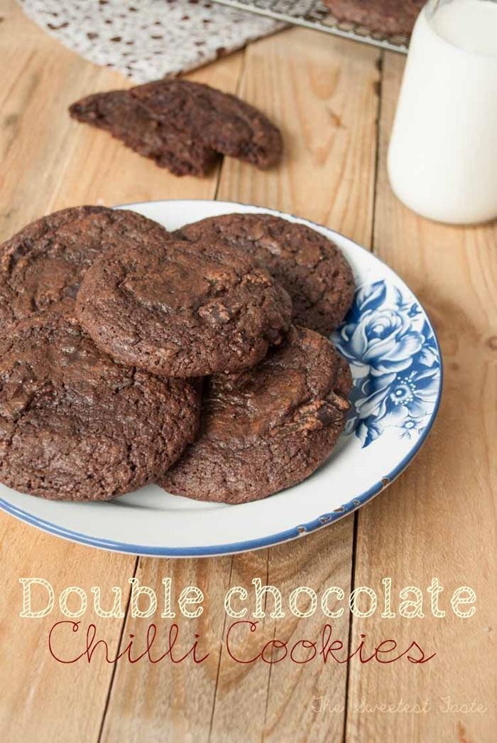 Galletas de chocolate y guindilla / Double chocolate chilli cookies