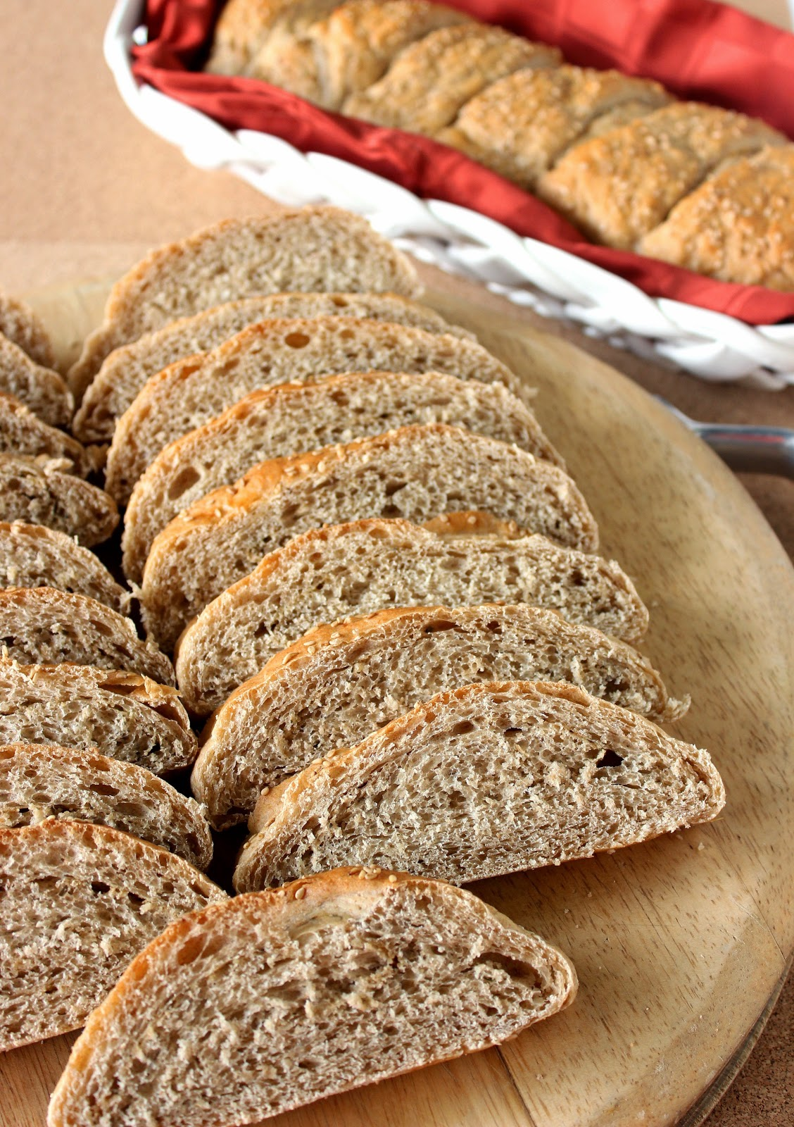 No-Rise Whole Wheat French Bread has a wonderful texture, flavor and is super easy if you're new to baking homemade bread.
