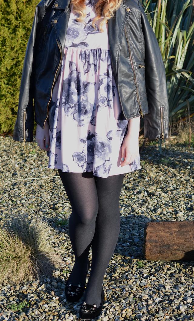 Danielle Louise Mahoney Charlotte Olympia Ireland Penneys Primark boohoo.com shift dress leather jacket