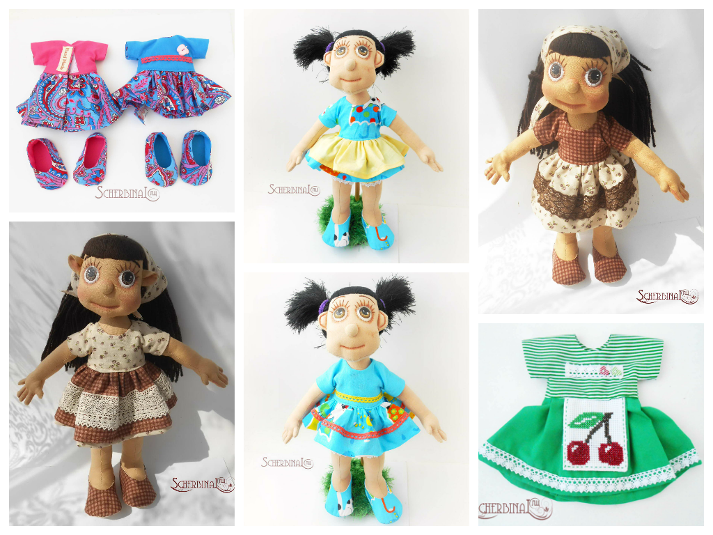 Двустороннее платье для куклы, выкройка, мастер-класс
