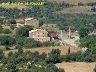 Zoom a Cal Fuster, Sant Sadurní de Fonollet i la Rectoria