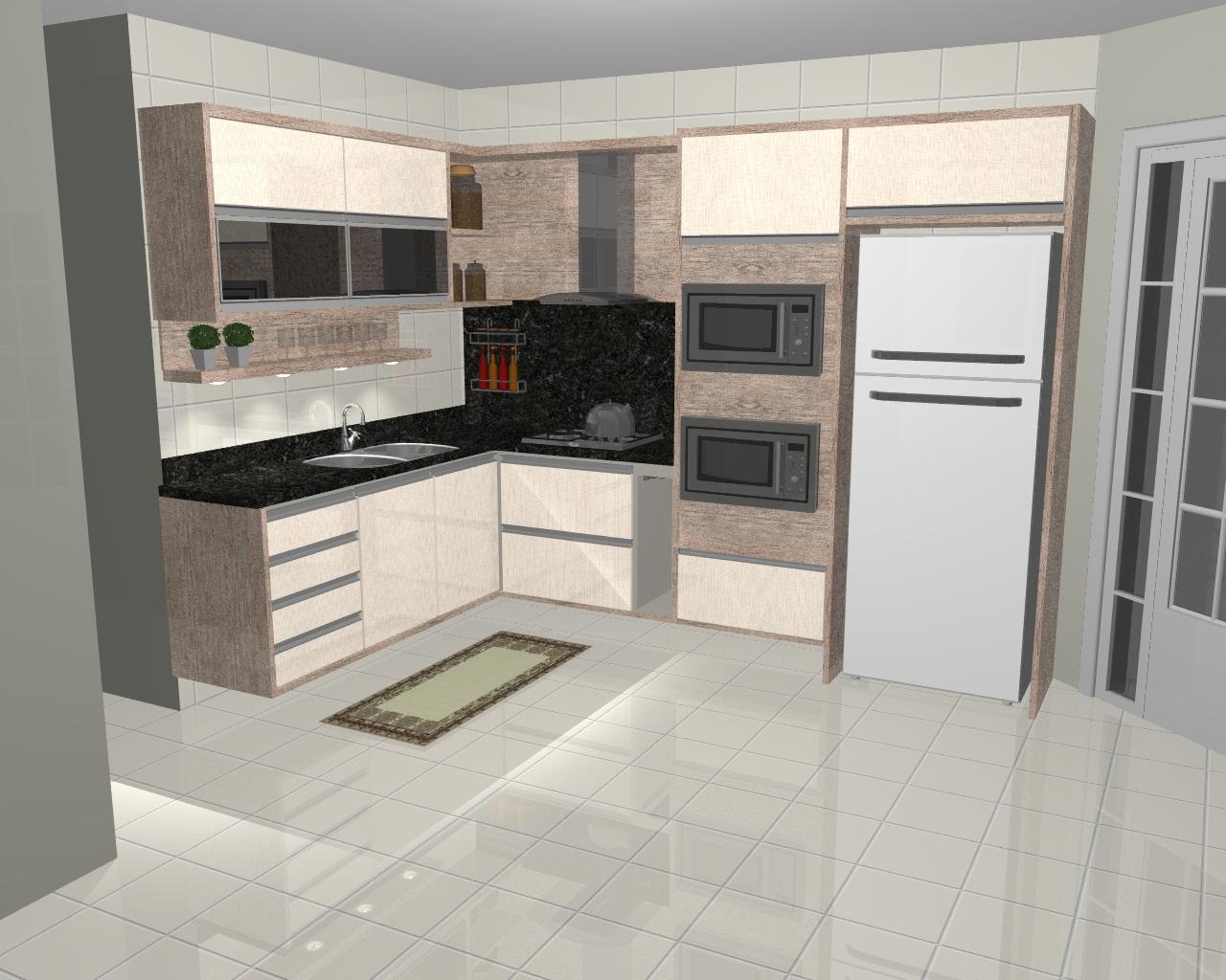 : Imagens renderizadas de cozinhas criadas e executadas pela ATUALLE #5C493C 1280 1024