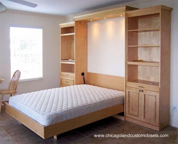 Arquitectura de casas los muebles cama de dormitorio - Hacer cama plegable pared ...