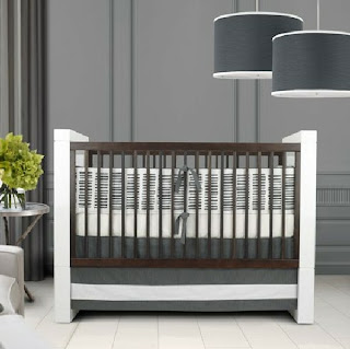 habitación de bebé paredes grises
