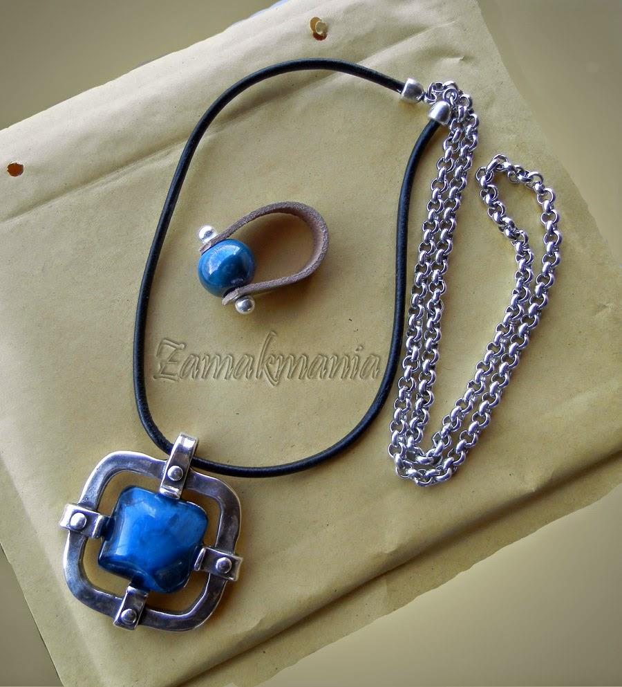 conjunto colgante y anillo