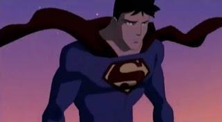 Superboy vestido de Superman
