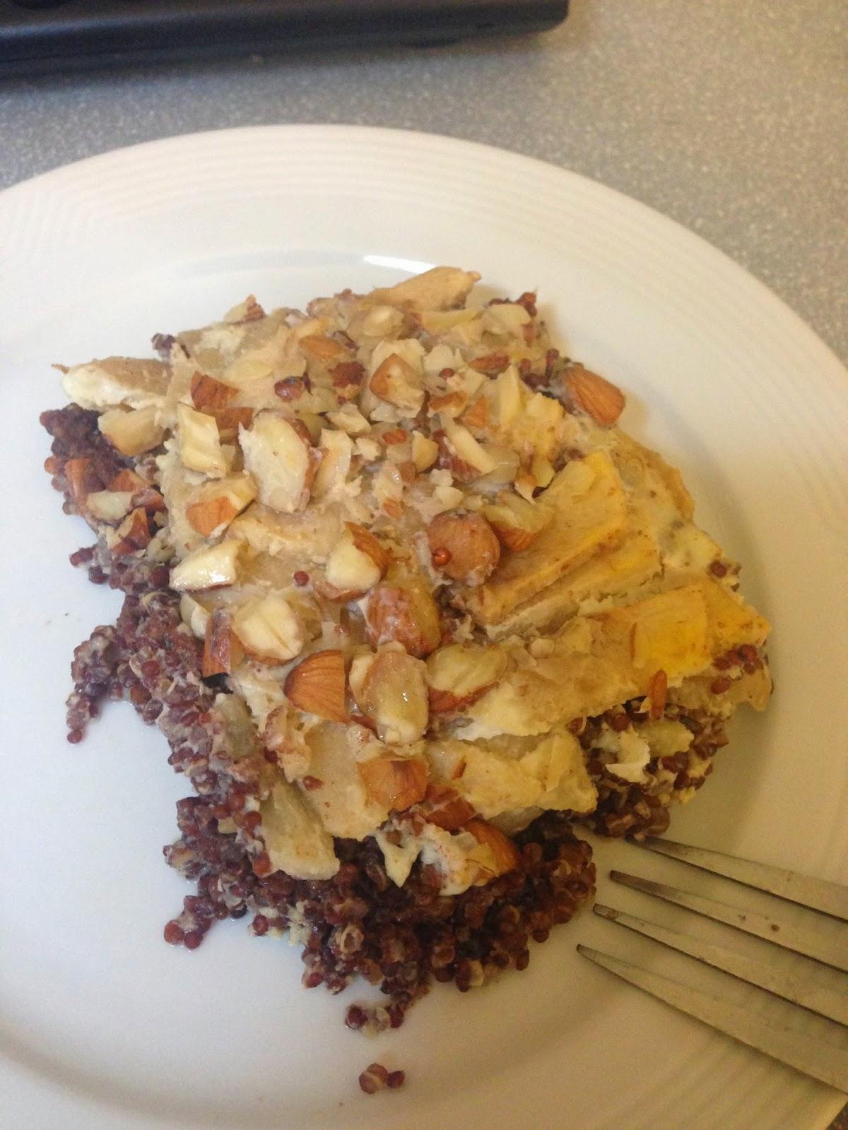 apple cinnamon quinoa bake breakfast