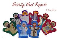 Handmade Nativity Hand Puppets