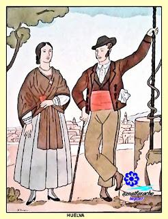 Traje típico de Huelva - De Ivori - Barcelona 1936