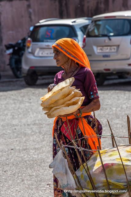 Streetside Papad Vendor Rajasthan