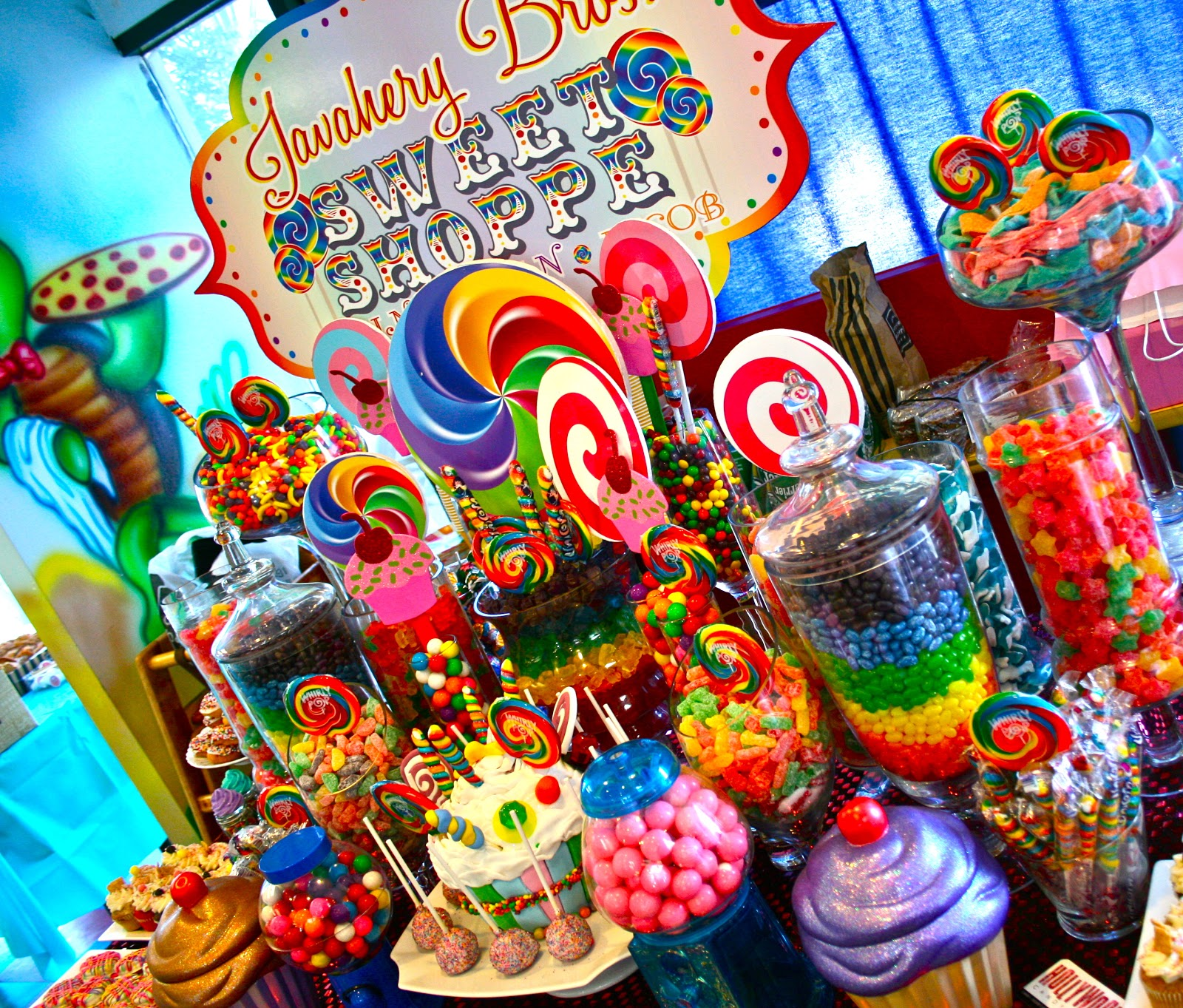 candy land theme parties the ultimate rainbow candy dessert sweet rh hollywoodcandygirls com candyland candy table ideas Candyland Themed Candy Buffet
