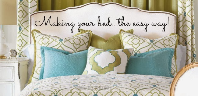 Making your Bed the Easy Way :: OrganizingMadeFun.com