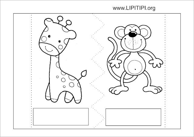 Atividade Ficha Técnica Animais Recorte e Colagem