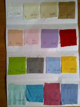 Warna Yang Tersedia Untuk Semua Sprei Dan Bed Cover :
