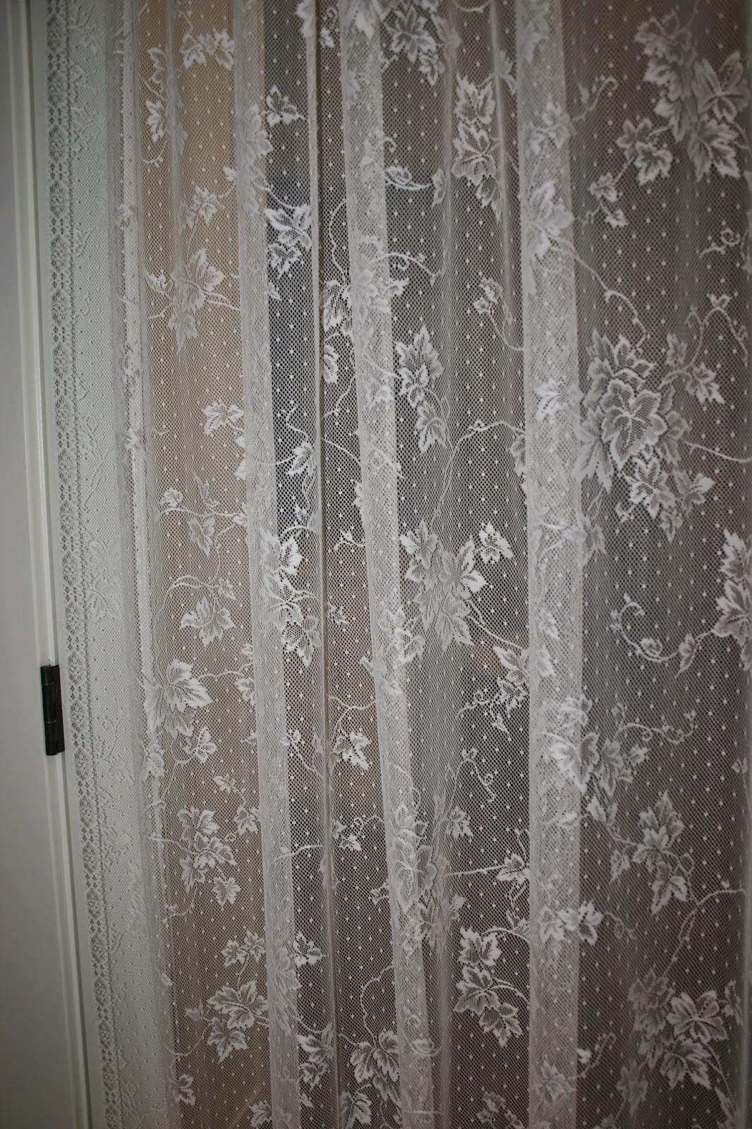 I Have Always Been Found Of Lace And So This Curtain Makes My Heart Sing  And The Best Thing Is, I Will Not Run Smack Into The Door ...