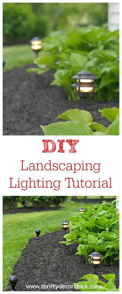 DIY landscaping lighting tutorial