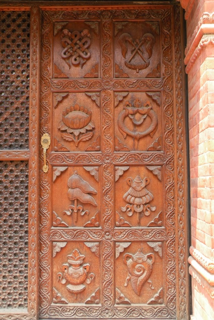 Namaste world wood carved doors