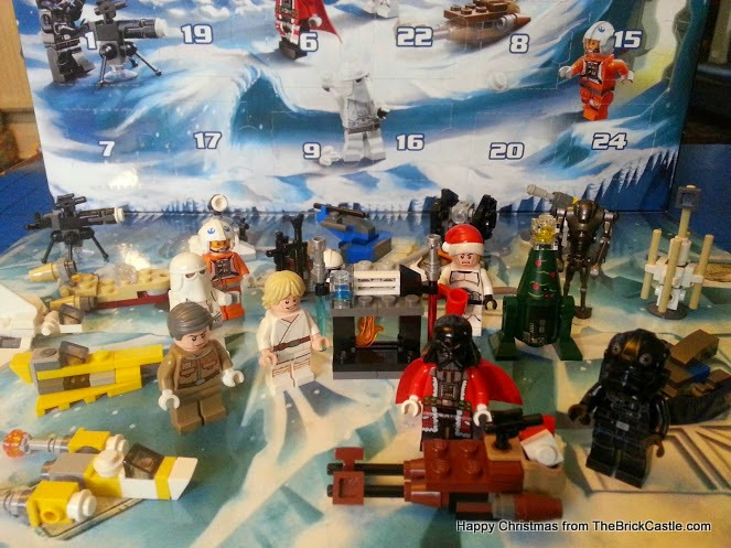 The LEGO Star Wars Advent Calendar Day 24 complete scene with backdrop