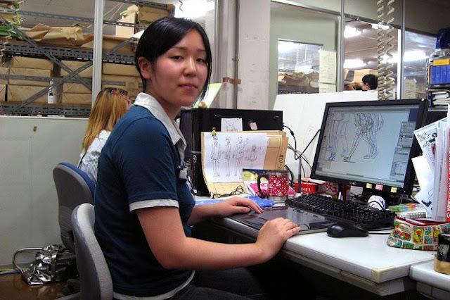 Rie Otani pracująca jako animator w Japonii pracuje po 11-12 godzin dziennie i zarabia około tysiąca dolarów miesięcznie