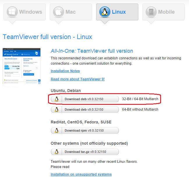 install teamviewer linux kali