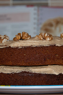 Home made Coffee and walnut cake