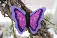 Broche vlinder vilt
