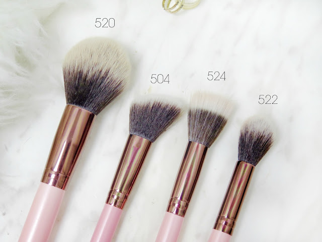 Luxie Beauty Synthetic Makeup Brushes | Review | Glam Pink & Rose Gold Brushes | labellesirene.ca