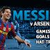 Messi, um terror para o Arsenal