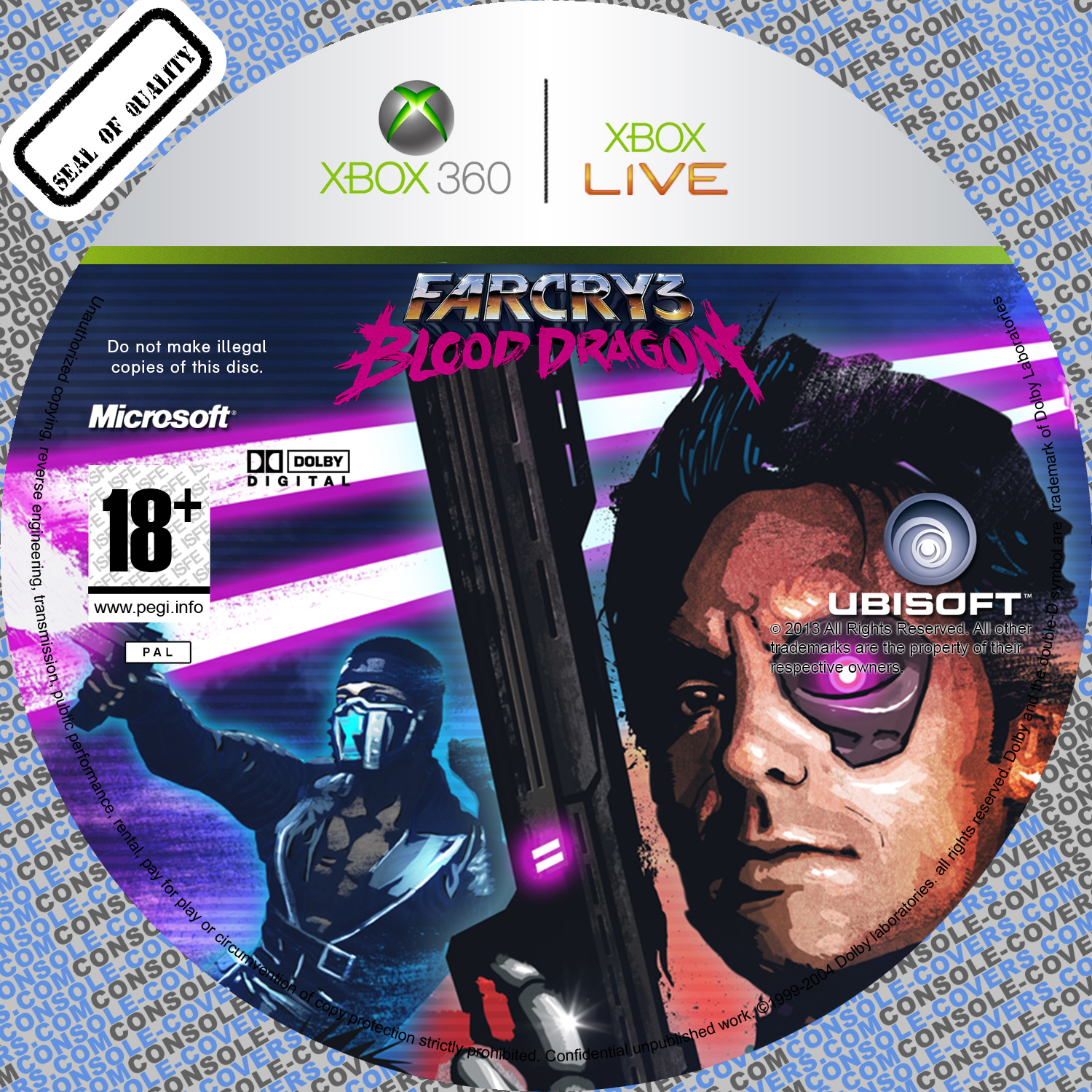 Label Far Cry 3 Blood Dragon Xbox 360