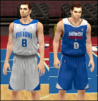 NBA 2K13 Detroit Pistons Practice Jersey Patch