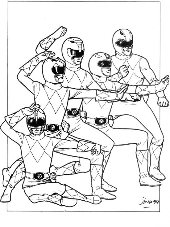 classic power rangers coloring pages - photo#5