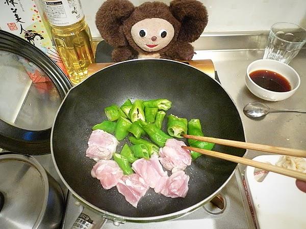 万願寺と麸の焼き鳥丼の作り方(1)