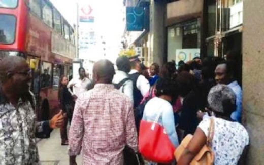 Nigerians in UK protest after compulsory payment of N10,000 for BVN