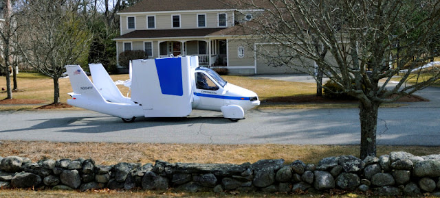 Flying car parking at home